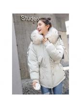 Fashionable Pulling Ropes Hooded Wholesale Woman Coat