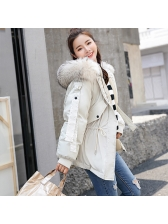 Fashionable Pulling Ropes Hooded Wholesale Woman Coat