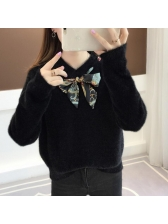 Winter Binding Bow Solid Wholesale Women Sweater