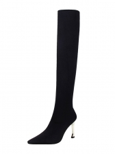 Simple Design Pointed Solid Wholesale Thigh High Boots