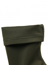 Fashionable Chunky Heel Pointed Green Mid Calf Boots