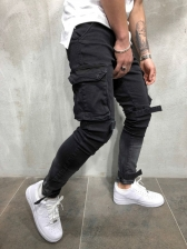 Hot Sale Solid Pockets Casual Versatile Pants