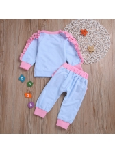 Causal Patchwork Stringy Selvedge Crew Neck Baby Set