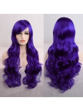 Hot Sale Cosplay Side Parting Long Wave High Quality Synthetic Wigs