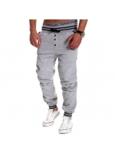 Hot Sale Fitted Loose Solid Casual Men Pants