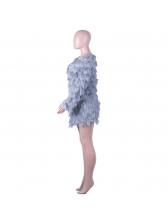 Euro Wholesale7 V Neck Faux Fur Winter Long Coat