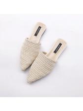 Spring Pointed Toe Solid Wholesale Female Flats