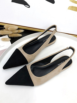 Spring Pointed Slingback Flats For Woman