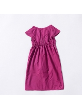 Chic Asymmetrical Swallow Tail Baby Girls Dresses