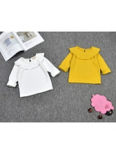 New Arrival Ruffle Long Sleeve Baby Girls T-shirts