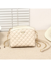 Fashion Quilted Rivets Mini Crossbody Bag With Chain