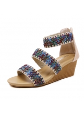 Leisure Weave Slipsole Gladiator Sandals For Women