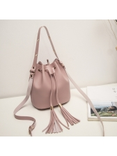 Simple Design Solid Personality Versatile Bucket Bag