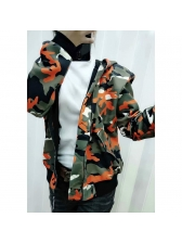 Winter Camouflage Printed Hooded Jackets