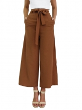 Binding Bow Wide Leg Loose Pants