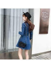New Arrival Single-breasted Denim High Waist Dresses
