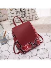 Hot Sale Snake Printed Flap Bag For Women