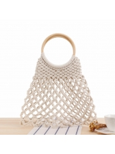 Hollow Out Round Handle Handbag For Women