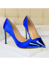 Simple Design Satin Thin Heel Pumps