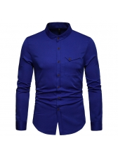 Casual Stand Collar Single-breasted Shirt