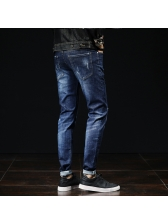 Hot Sale Embroidery Pencil Jeans For Men