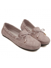 Classical Look Round Toe Bow Simple Casual Flat
