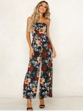 Euro Off The Shoulder Printed Woman Jumpsuits
