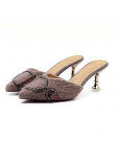 Casual Diamond Patchwork Pointed Flat