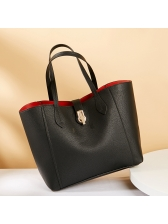 Easy Matching Solid Capacity Pu Hand Bag