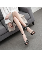 Euro Beading Bow Ankle-Strap Sandals