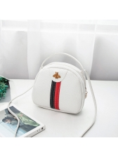Fashion Striped Bee Patchwork Mini Crossbody Bag