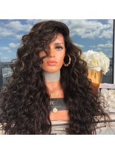 Long Side Bang Curly Night Club Shaggy Colormix Synthetic Wigs
