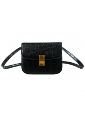 Fashion Crocodile Pattern Solid Square Bag