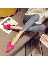 Bow Closed-Toe Woman Mules Slippers