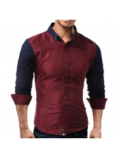 Single-Breasted Dots Shirt For Men