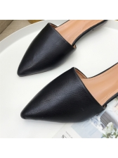 Minimalist Pointed Pu Solid Mules Slippers