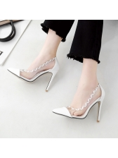 Sexy Wave Patchwork Clear Woman Pumps