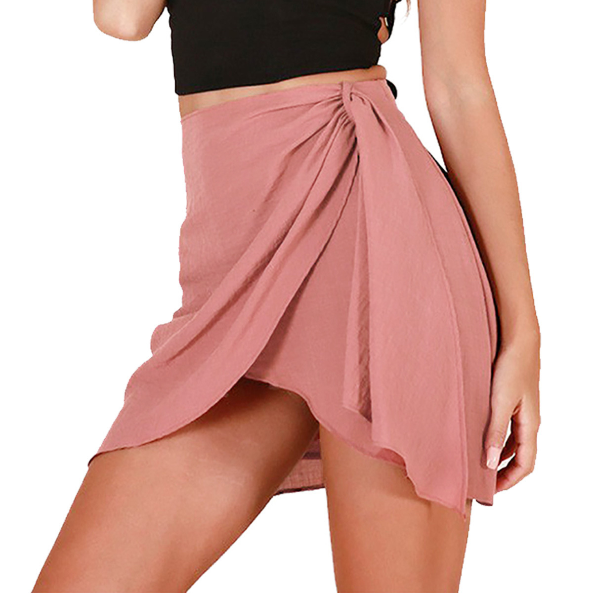 Fashion Solid Short Skirts For Women