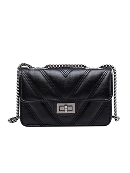 New Arrival Chevron Twist Lock Crossbody Bag
