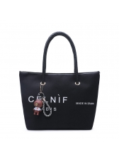 Minimalist Style Letter Casual Canvas Tote Bag