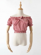 Spring Stringy Selvedge Bow Cropped T-Shirt