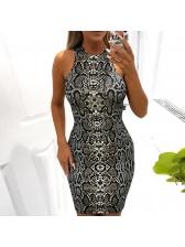 New Arrival Serpentine High Waist Sleeveless Dress