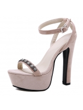Korean Diamond Ankle Straps Platform Sandals
