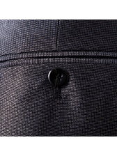 Formal Solid Single-Breasted Gray Men Suits