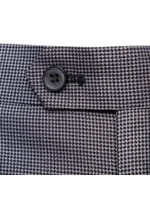 Plaid Lapel Fitted Solid Casual Men Suits