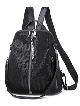 Casual Sequined Mesh Waterproof Travel Backpack
