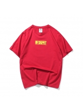 Letter Printed Crew Neck Casual Man T-Shirt