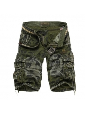 British Style Pocket Belt Man Short Pants