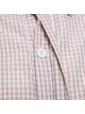 Plaid Pocket Turndown Collar Casual Shirts