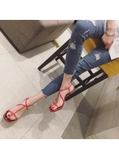 Square Toe 2 Inch Heel Strappy Sandals For Ladies